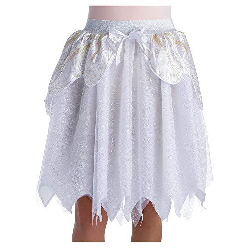 Costumes Damen Princess Fee Tutu Rock Weiß Silber Glitzer Fasching Halloween Karneval one Size