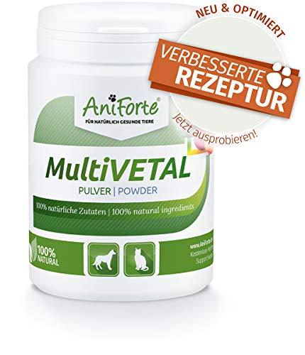 AniForte MultiVETAL Multivitamin Pulver für Hunde, Katzen 100g - Natürliche Multi-Vitamine und Nährstoffe für eine optimale Versorgung, Unterstützung der natürlichen Abwehrkräfte -