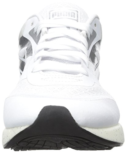 Puma 698 Ignite Metallic Maschenweite Laufschuh White/Puma Silver/White