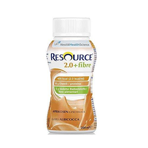 Nestle Trinknahrung Resource 2.0 Fibre 24x 200ml, Aprikose (Fett Lösliche Ballaststoffe)