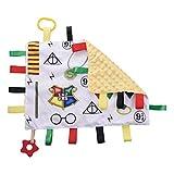 Coperta di sicurezza per bambini, con etichetta, morbida e rilassante, comoda coperta sensoriale e giocattolo per dentizione