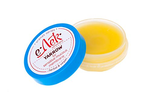 Natürliche Weiße-Schafgarben-Salbe 20 ml, kaltgepresstes Öl Extrakt, 100% natürlich - Gegen Hämorrhoiden, stabilisiert Gefäßwände und verbessert die Durchblutung - Handgefertigt in der EU