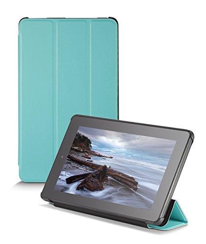 NuPro Schlanke Hülle mit Standfunktion für Fire (7-Zoll-Tablet, 5. Generation - 2015 Modell), Türkis