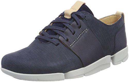 Clarks Damen Tri Caitlin Sneaker, Blau (Navy Combi), 41 EU (Clark Schuhe Von)