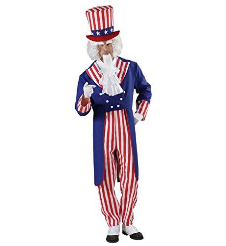 Widmann - Erwachsenenkostüm Onkel (Uncle Sam Für Erwachsene Herren Kostüm)