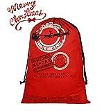 Belee Sac du Père Noël à Fermeture à Cordon Sac-Cadeau Personnalisés par Vous-même en Toile de Canevas Grand Taille de 50 * 70CM Décorations de Cadeaux/Présents pour Fête de Noël (Motif 6)