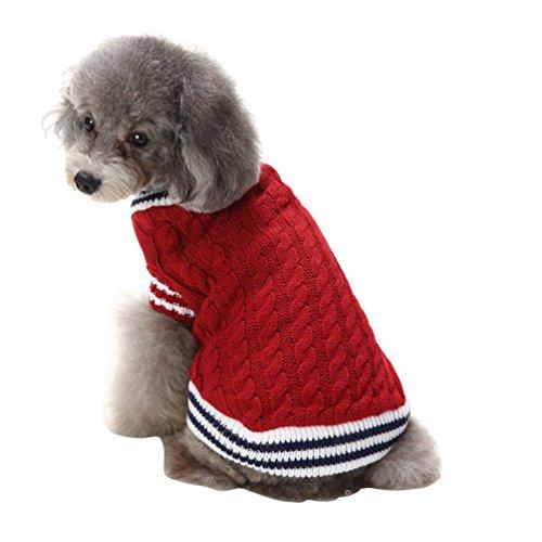 YiJee Weihnachten Elch Halloween Schädel Haustier Kleidung Pullover für Kleine Hunde Rot (Elch Kostüme Halloween)