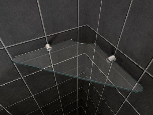 Glas-Wandregal für Duschkabinen / Duschtrennwände