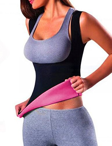 731eaec543da2 ISASSY Women s Slimming Waist Trainer Cincher Sport Yoga - Sweat Sauna Suit  Shirts Hot Thermo Neoprene