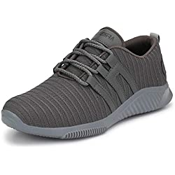 Afrojack Men's Air-5 Mesh Sports Shoes -Grey-8