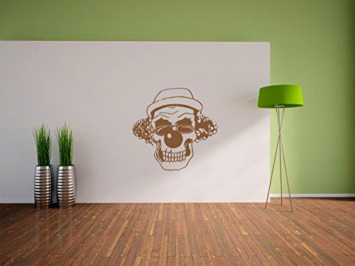 Hipster Clown Wandtattoo Format: 300x290 mm_a Wandbild, Wandaufkleber, Wandsticker Dekoration für Wohnzimmer, Schlafzimmer und Kinderzimmer (Böse Clown Dekoration)
