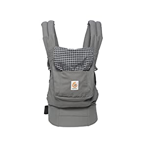 Ergobaby Baby Carrier Toddler Front Back Original Steel Plaid, 100% Cotton Ergonomic Child Carrier Backpack   12
