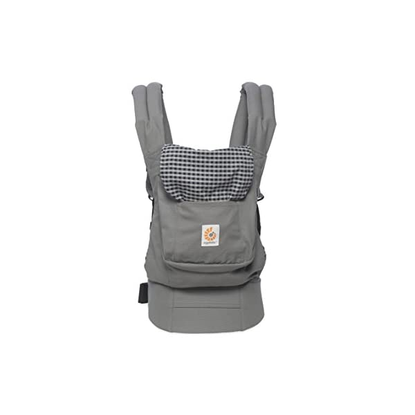 "Ergobaby Baby Carrier Toddler Front Back Original Steel Plaid, 100% Cotton Ergonomic Child Carrier Backpack Ergobaby Ergonomic Baby Carrier - Ergonomic for baby with wide deep seat for a spread-squat, natural ""M"" seated position. Baby carrying system with 3 carry positions:  front-inward, hip and back. From baby to toddler: 5.5*-15 kg (* from 3.2-5.5 kg / 7-12 lbs with Infant Insert, sold separately). Wearing comfort - All-day comfort with extra-padded shoulder straps (1 inch high density foam) and padded waistbelt  (1/4 inch) 1"