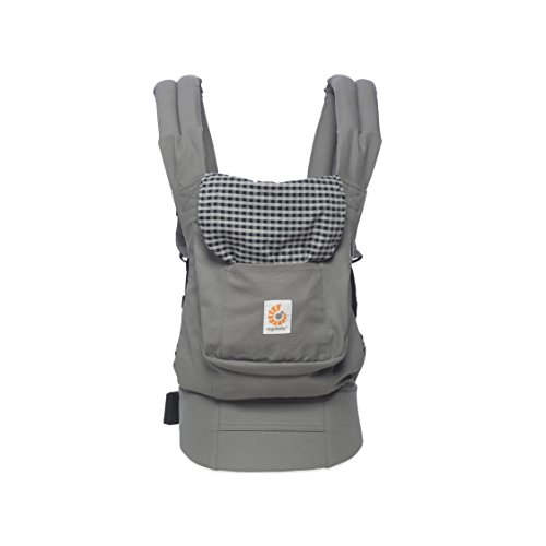 ERGObaby BCANPLAID Babytrage Original -(5,5 - 20 kg) Steel Plaid