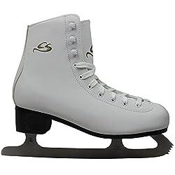 Cox Swain Figure Damen + Kinder Eiskunstlauf Schlittschuh -LOHJA- alle Größen, Weiß - Gr. 39