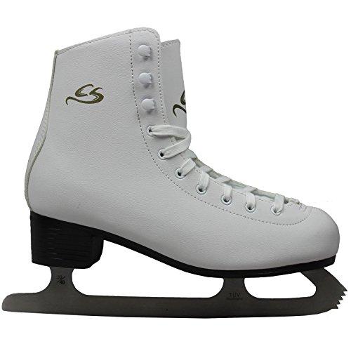 Cox Swain Figure Damen + Kinder Eiskunstlauf Schlittschuh -LOHJA- alle Größen, Colour: White, Size: 39