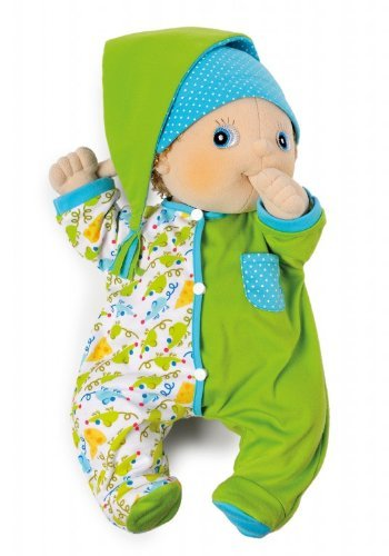 Rubens Barn Cozy Green Pyjamas Baby Accessoires / grün + bunt gemusterter Schlafanzug für Rubens Baby
