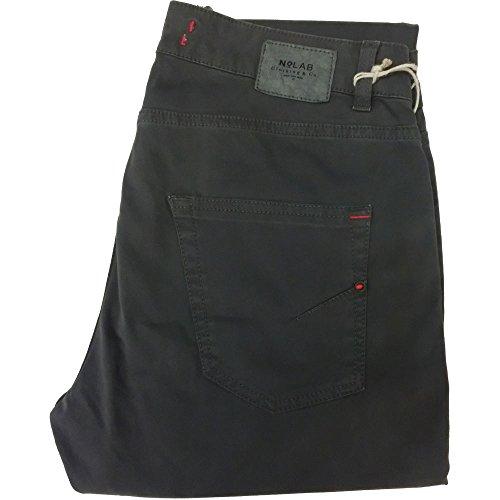 No Lab pantalone uomo 1270 - Elasticizzato 5 tasche 97% cotone 3% elastan, made in italy, Grigio (32)