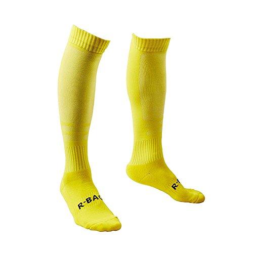 all Sportswear Socken Fußball Basketball Sport über Knie hohe Socke (Gelb) ()
