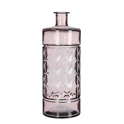 MICA Decorations Guan Botella/–Jarrón, cristal, vidrio, rosa cl