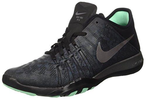 Nike Wmns Free Tr 6 Mtlc, Scarpe Sportive Indoor Donna Grigio (Dark Grey/black/green Glow/metallic Silver)