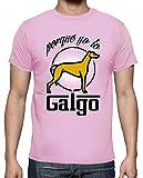latostadora - Camiseta Galgo para Hombre Rosa M