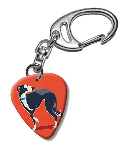 greyhound-dog-martin-wiscombe-guitare-mediator-pick-porte-cles-vintage-retro