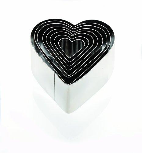 Eddingtons Set tiefe Ausstechformen Herz, 8-teilig