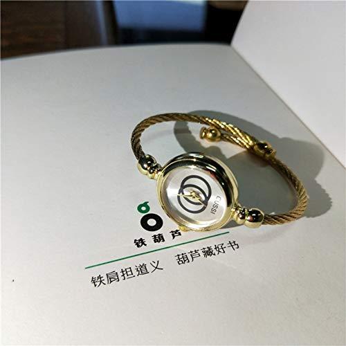 LLDNYSKH Mode zu sehen Damenuhr Literarische Retro Kleine Frische Armbanduhr Studentinnen Öffnen Trenduhr