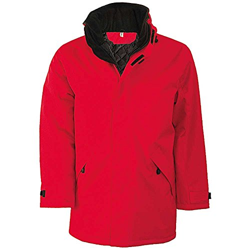 Kariban Unisex Erwachsene Jacke rot - rot / schwarz