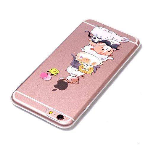 Per iPhone 6 Plus / iPhone 6S Plus Cover , YIGA Unicorno dellaerostato Trasparente Silicone Morbido TPU Case Shell Protezione Custodia per Apple iPhone 6 Plus / iPhone 6S Plus (5,5) XY15