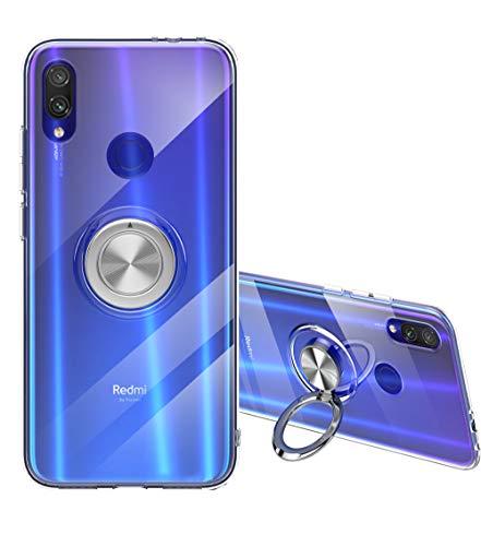 Mingwei Redmi Note 7 Hülle, Advanced Clear TPU [mit Unsichtbarem 360 ° Standring] [Unterstützung für Magnetische Autohalterung] Weiches Silikon für Xiaomi (Redmi Note7, Durchsichtig)