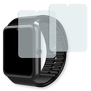 GOLEBO Yamay Bluetooth Smartwatch Displayschutzfolie – 2X Displayschutz Schutzfolie Folie Crystal Clear für Yamay Bluetooth Smartwatch (verkleinerte Folie)