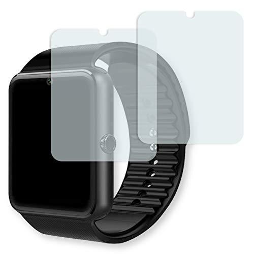 GOLEBO Yamay Bluetooth Smartwatch Displayschutzfolie - 2X Displayschutz Schutzfolie Folie Crystal Clear für Yamay Bluetooth Smartwatch (verkleinerte Folie)