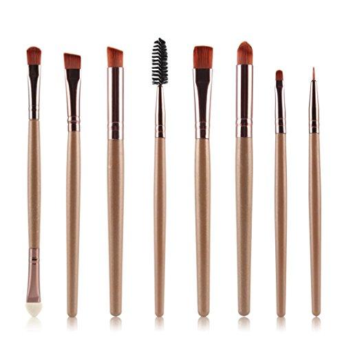 Clode® 8pcs Brosse cosmétiques Maquillage Brush Pinceau fard à paupières or