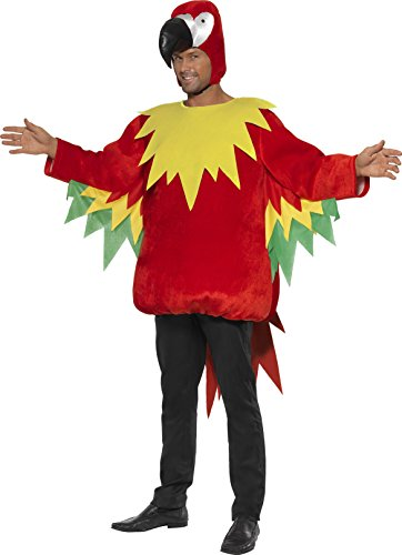 gei Kostüm, Tunika und Kapuze, Größe: M, 35317 (Papagei Kostüm Für Erwachsene)