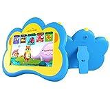 B.B.PAW Kinder Tablet, 7'' Englisch Augenschutz Gesamte Gehirn Bildung Tablette und 90+ Vorinstalliertes Erlernung und Ausbildung Apps(Silikonhülle im Lieferumfang enthalten)-Blau