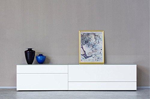 KITOON Sideboard/Lowboard (B 266 H 57 T 48 cm), Fußgestell, Nuß geölt (Echtholzfurnier)