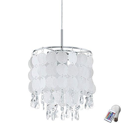 Suspension Cristal Foil lampe suspendue télécommande incluse RGB ampoules LED dans l'ensemble