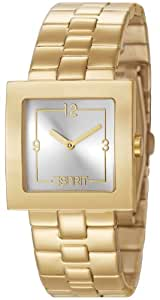 Esprit Damen-Armbanduhr Cedar Gold Analog Quarz Edelstahl ES105412003