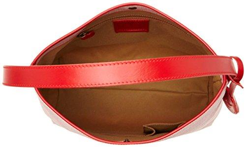 Timberland Damen Tb0m5154 Schultertasche, 12x35x33 cm Rot