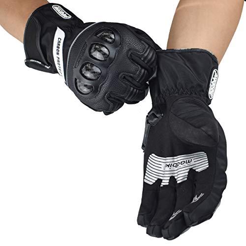 Madbike Motorrad-Handschuhe, wasserdicht mit Karbonfaserschutz - 7