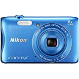 Nikon COOLPIX S3700 Compact Digital Camera (20.1 MP, 8x Optical Zoom) 2.7-Inch LCD - Blue