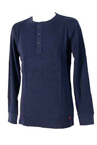Polo Ralph Lauren Longsleeve Henley Shirt Langarm Shirt Pyjamaoberteil S Cruise Navy (003) (Baumwoll-henley Lauren)