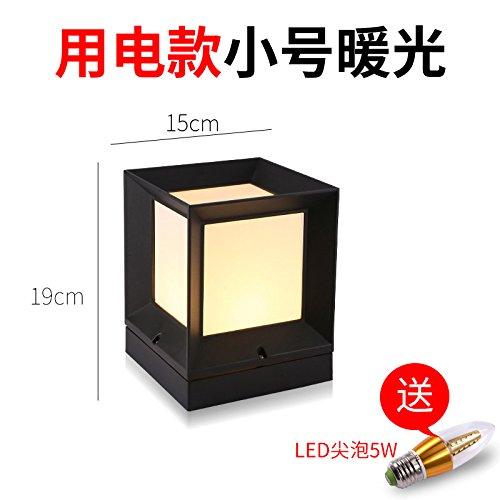 GGSSYY Stigma Lampe/Outdoor/Gehäuse Lampe/Hof Lampe/Super Bright/Led/Home/Wasserdicht/Solar Lampe, Heizung Licht mit einer elektrischen Trompete feuchtigkeitsbeständig Spalte (Heizung Outdoor-gehäuse)