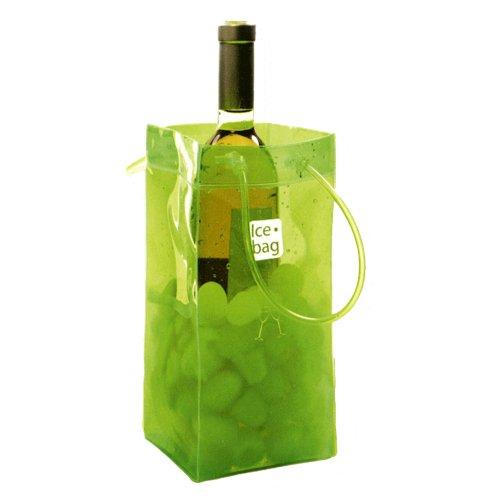 Ice bag Seau a Glace rafraichisseur Sac Porte Bouteille pliable - Vert Acidule