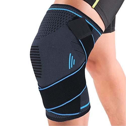 EUROPE HUT Sport Kniebandage mit rutschfestem,Verstellbare Bandage Knieschoner Kompressions-Kniehülse für Damen & Herren, Knieschützer für Laufen, Joggen, Kraftübungen, Gelenkschmerzen (Blau)