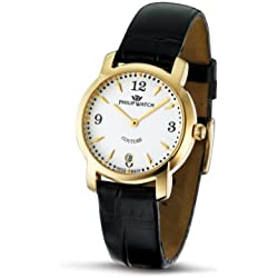 Philip Ladies Couture Analogue Watch R8251198645 with Quartz Movement, White Dial and Stainless Steel Case