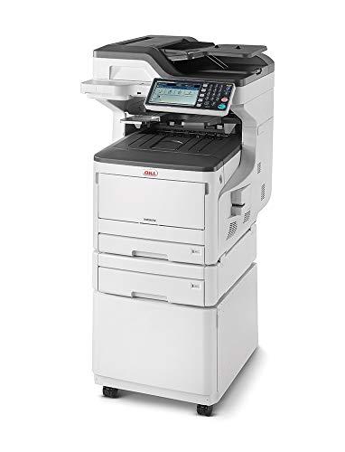 Oki MC873dnct Stampante Multifunzione 4 in 1, a colori, A3, fronte/retro, 35 pagine al minuto, con mobiletto, 2° cassetto e software gestione documentale