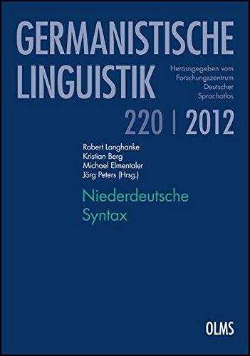 Niederdeutsche Syntax (Germanistische Linguistik)